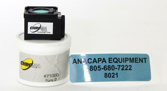Used Chroma Fura 2 71000 510, Microscope Fluorescence Filter Cube (8021)W