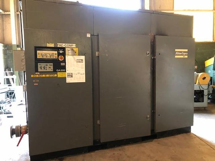 Used 250 HP ATLAS COPCO AIR COMPRESSOR