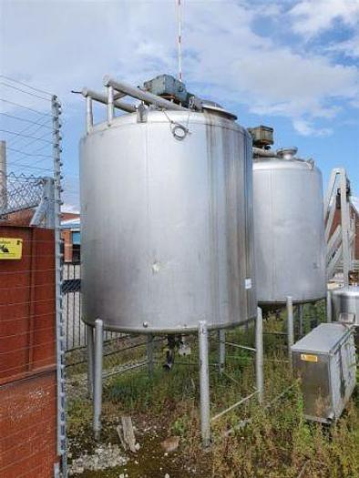 Used APV 1,500 Gallon St Steel Tank with Gate Agitator