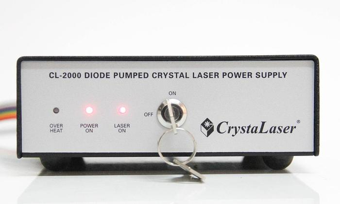 Used CrystaLaser Diode Pumped Crystal Laser Power Supply CL-2000 (5927)