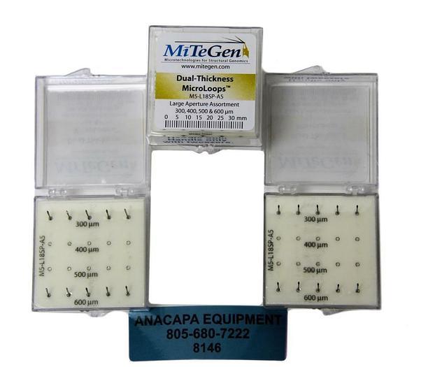 MiTeGen M5-L18SP-A5, Dual-Thickness MicroLoops 300 & 600µM Apertures Lot (8146)W