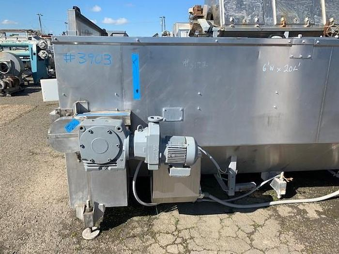 Unipak 6' Wide x 20' Long Pasteurizer/Cooling Tunnel Model620LH