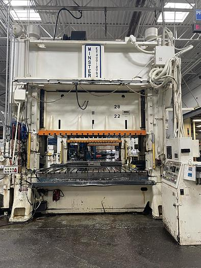 """Used 400 ton Minster 120""""x54""""  SSDC Stamping Press"""