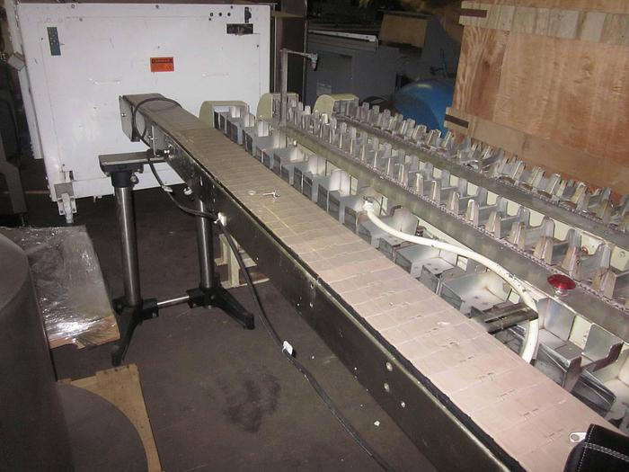 "STAINLESS STEEL POWER CONVEYOR 8'L x 6""W"