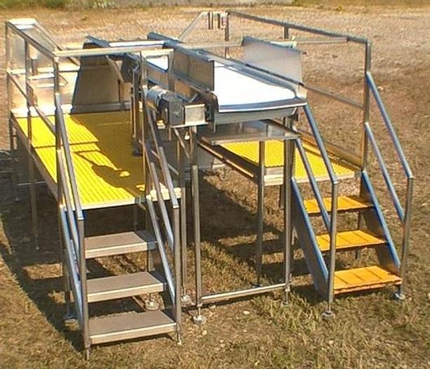 Used Electric Conveyor w/Mezzanine