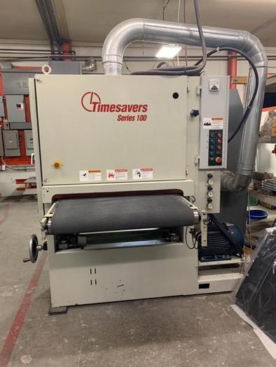 "2001 37"" Timesaver Series 100 Belt Grinder w/ Wet Collector"