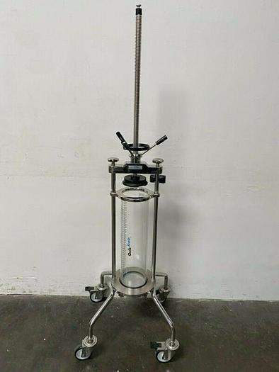 Used Millipore QuikScale 8.2 Liter Acrylic Chromatography Column on Wheels