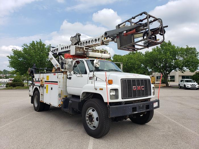 JUST IN FROM VERIZON!! 2001 GMC 7500 TELSTA T40C PRO CABLE PLACER BUCKET  TRUCK