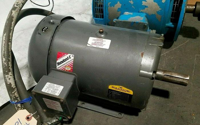 Used Baldor 10 Hp Electric Motor 575 Volts 3 Phase 215T Frame 1760 RPM