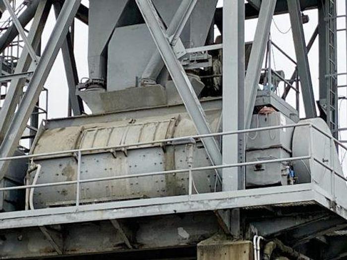 Used 10 Yard Besser Horizontal Concrete Plant Mixer