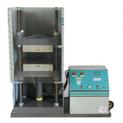 Used Carver 3893 Auto Series 15 Ton Hydraulic Heated Press Platens 12 x 12 450ºF 7188