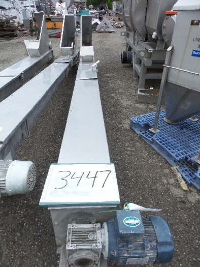 SAFI Stainless Steel Screw Conveyor 8'' Wide x 15' long #3447