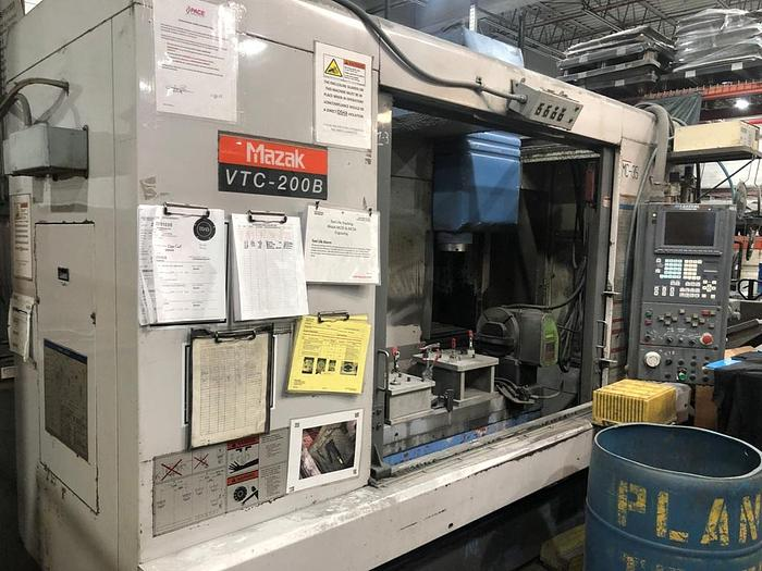 Used 2001 MAZAK VTC-200B,CNC Vertical Machining Center W/ 4th Axis Table
