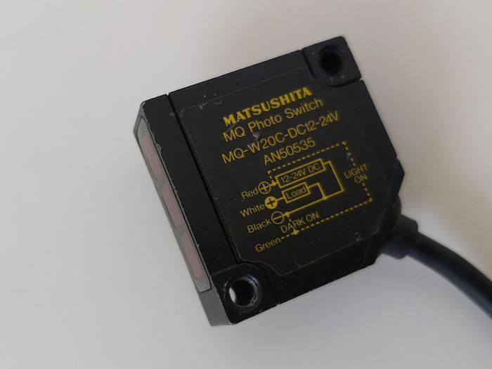 Gebraucht Foto elektrischer Sensor, MQ-W20C-DC12-24V, Matsushita gebraucht