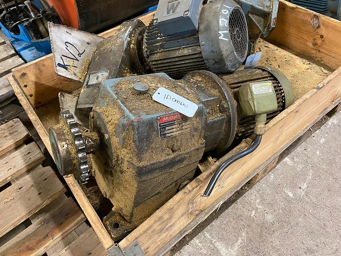 Used Sweden Electric motor with reducer 4 kW