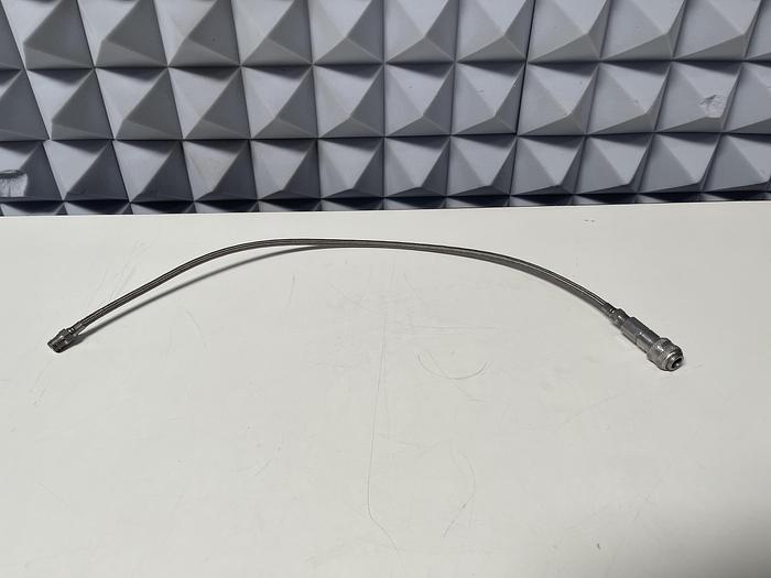 """Used 31"""" Stainless Steel Flexible Braided Hose w/ Quick Connections"""