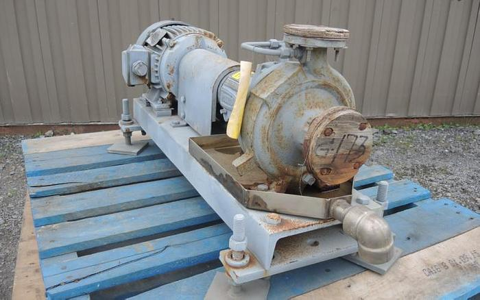"USED CENTRIFUGAL PUMP, 1.5"" X 1"" INLET & OUTLET, CARBON STEEL"