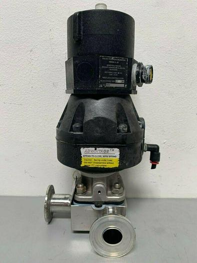 """Used ITT Pure-Flo A209 3-way Stainless Steel Diaphragm Valve w/ 2"""" Sanitary Fittings"""