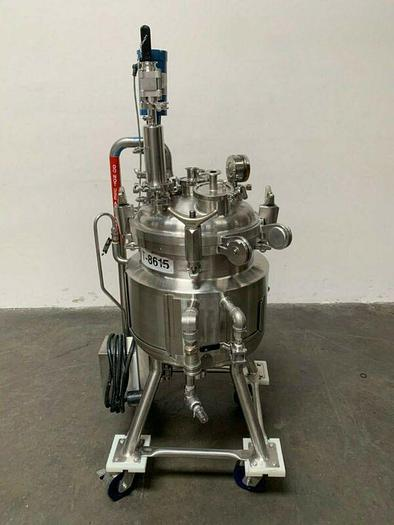 Used Precision 50 Liter Stainless Steel Jacketed Reactor 76 PSI