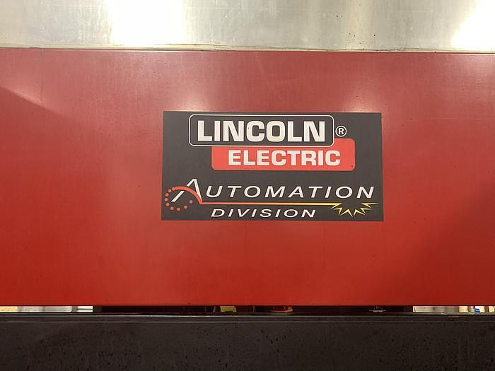 2012 LINCOLN ELECTRIC  SYSTEM 20 MIG WELDING CELL WITH FANUC ARCMATE 100IC ROBOT AND R30iB CONTROLLER