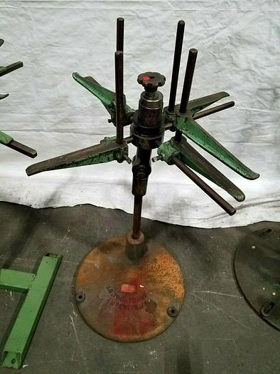 """Used US Tool 30"""" Stock Reel Payoff for feeding metal stock to power punch press"""
