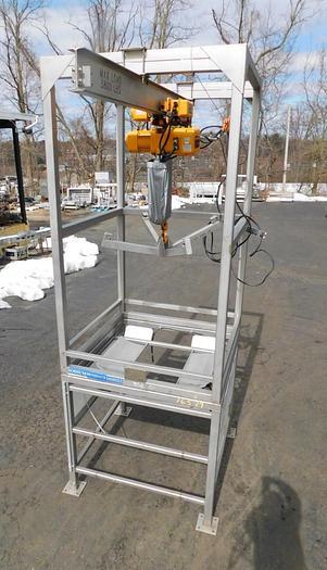 Used EXPERT PROCESS SUPER SACK UNLOADER – 3800# CAPACITY – ALL STAINLESS STEEL (#9762)
