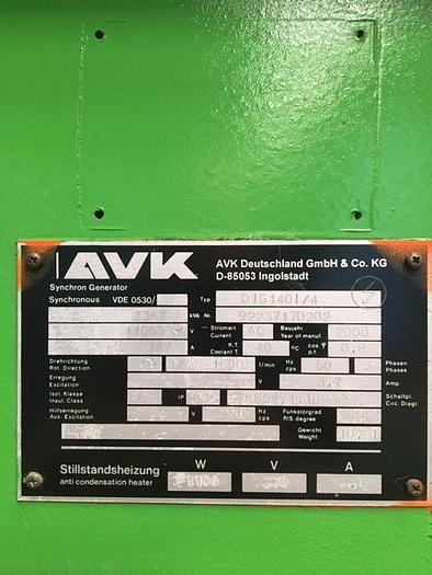 2000 AVK KVA: 3367