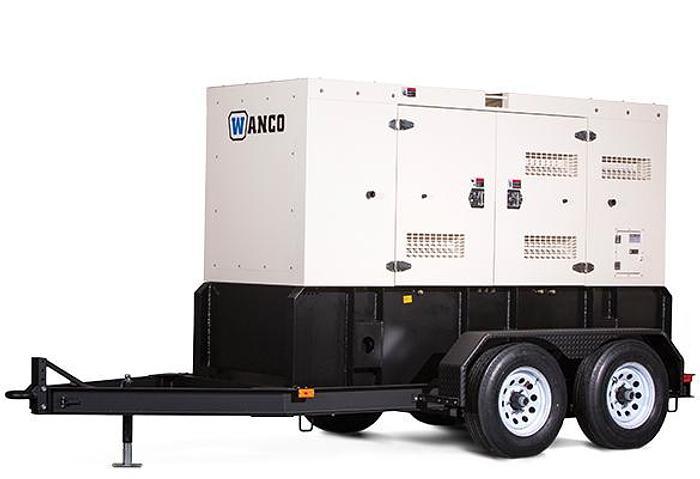 Wanco WSP 25kW Sound Enclosed Trailer Mounted Generator /New Warranty