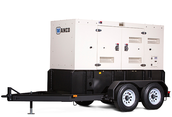 Wanco WSP 25kW Sound Enclosed Trailer Mounted Generator /New Warranty