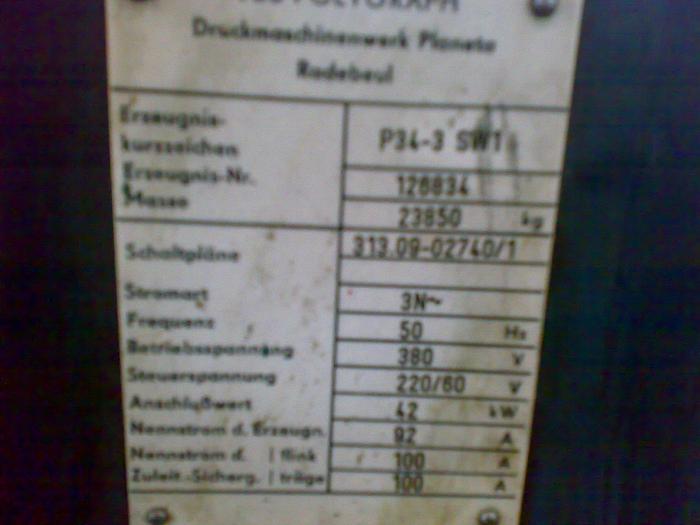PLANETA P34-3 SW1 4 COLORS OFFSET 100/70 CM