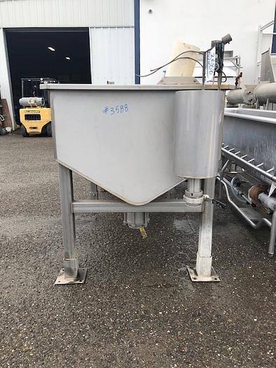 400 Gallon Rectangular Stainless Steel Tank,