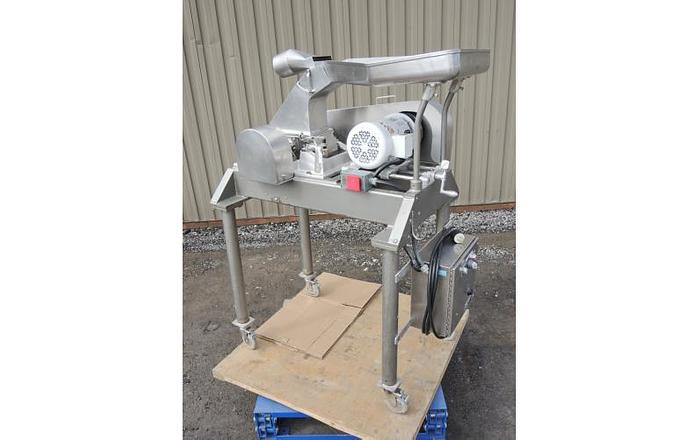 Used USED FITZ MILL, MODEL DAO6, SWINGING KNIVES, STAINLESS STEEL, SANITARY
