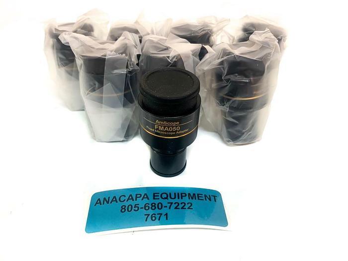 AMScope FMA050 RU050 Fixed Microscope Adapter NEW Lot of 8 (7671) W