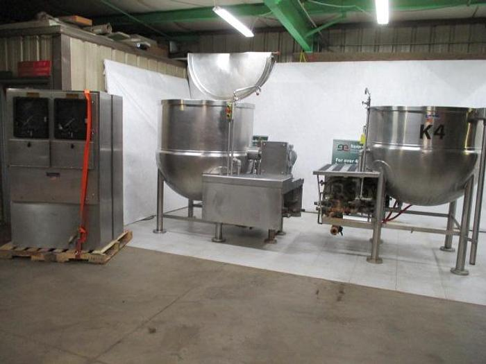 Used JC Pardo/Cleveland Cook Chill Horizontal Agitator Mixer Kettle & Pasta Cooker; Md#HAMKDL; 400G & 300G