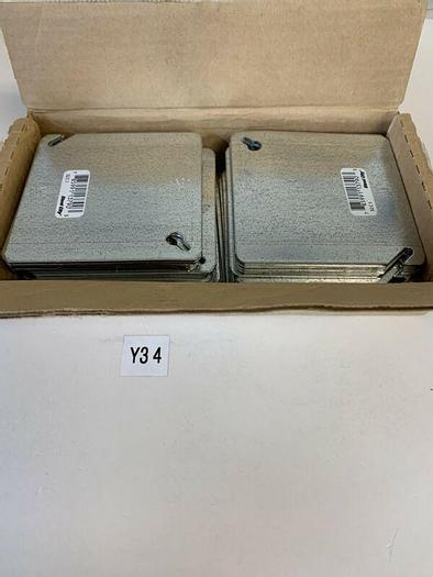 """Thomas & Betts Steel City 52C1 4"""" Square Blank Cover Flat (Qty.39)"""