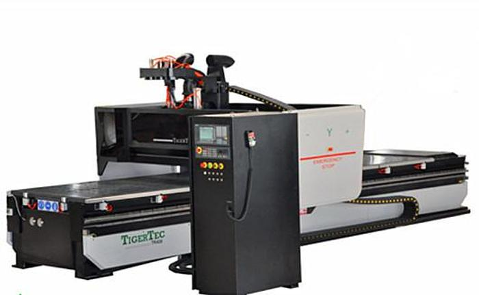 TWIN TABLE CNC CUTTING MAHCINE WITH BORING UNIT