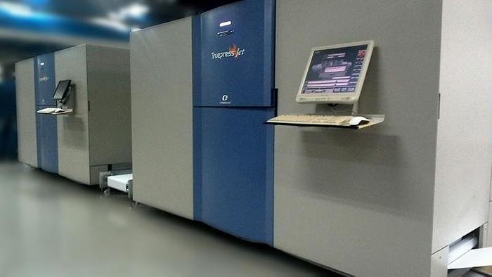 2008 - Screen Truepress Jet 520 Full-Color Variable Inkjet Continuous Printing System (Duplex)
