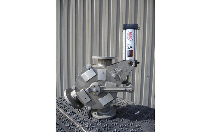USED 3'' TWO WAY DIVERTER VALVE, STAINLESS STEEL, SANITARY