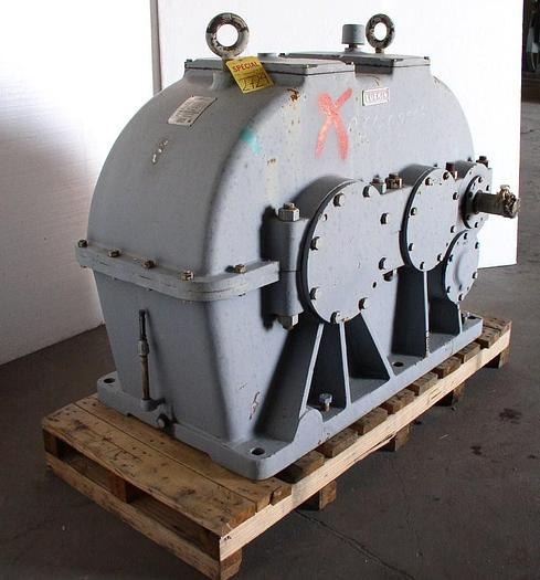 Used 100 HP @ 870 RPM 2.38:1 LUFKIN Model T340CHS Parallel Power Transmission Gear Reducer