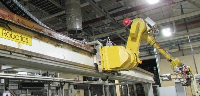 Used 6 - FANUC  M710iB/70T GANTRY ROBOT SYSTEMS 10,200 MM TRAVEL X 8' TALL RJ3iB CONTROLLER