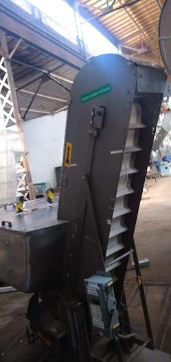 """Used Stainless feed hopper  11wx 84"""" discharge"""