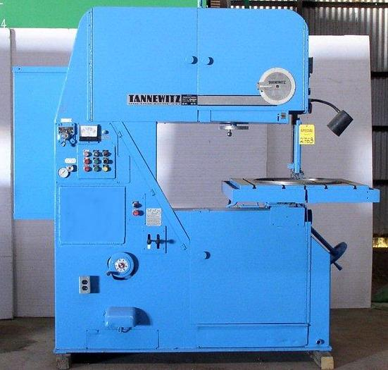 "36"" TANNEWITZ 3600 MH Vertical Band Saw; Traveling Table 32""; S/N: 14392"
