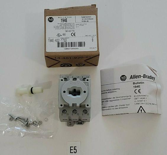 *NEW IN BOX* Allen Bradley 194E-A32-1753 Base Mount Load Switch Ser B 3P 32AMP