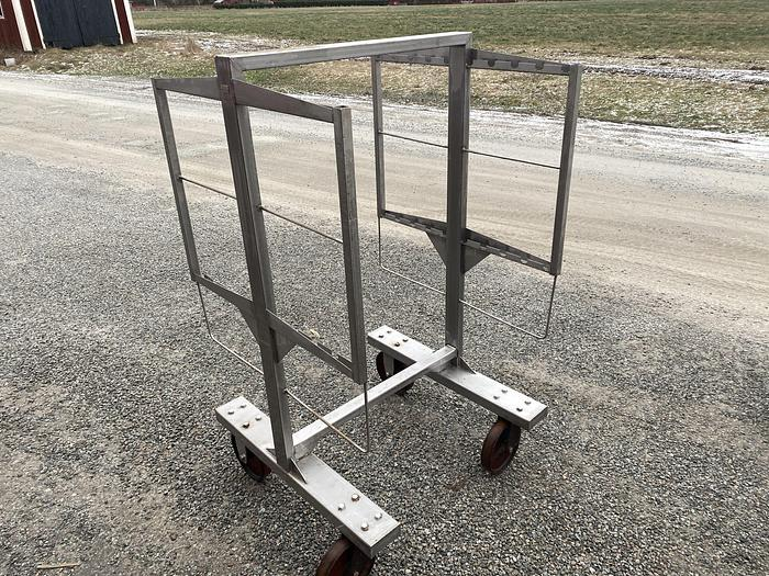 Använd Rökvagn 100x100cm, 2 gejdrar