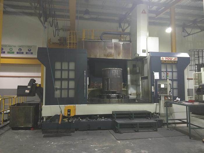 Used 2015 You Ji VTL-2500ATC+C Used CNC VTL Machine