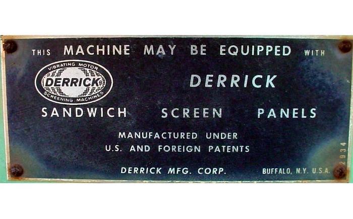 """USED DERRICK RECTANGULAR SCREEN, 18"""" X 60"""", DOUBLE DECK, CARBON STEEL"""