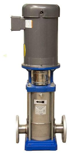 Used Goulds 4SVB1K2D0 SSV Multi-Stage Vertical Booster Pump w/ Baldor VM3219T (7267)R