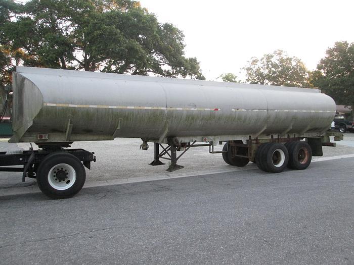 Used 1968 Fruehauf Aluminum Tanker Trailer