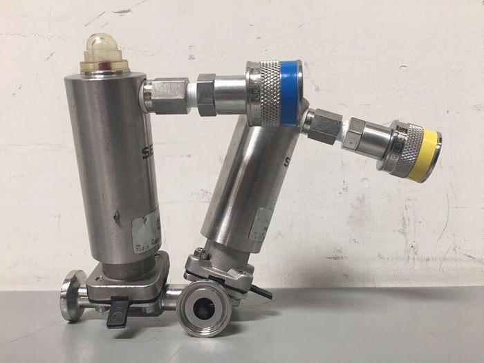 """Used SED 146092-4 1/2"""" Diaphragm Valve Stainless Steel W/ Pneumatic Fittings"""