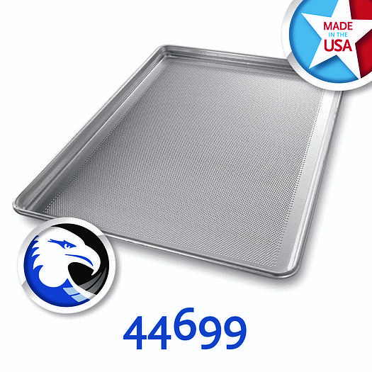PERFORATED SHEET PANS SEAMLESS CORNER, WIRE IN RIM